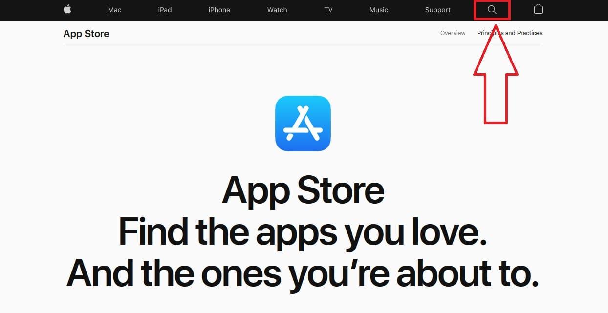поиск в App Store